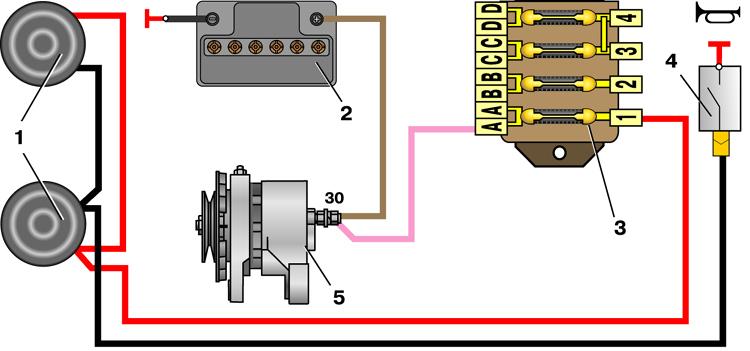 Подключение звуковых сигналов волга схемадядька черномор фото